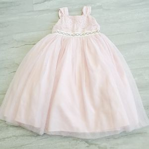 MARMELLATA Girls Lace sequin jewel flowy dress